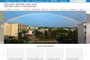 Indian Institute of Technology Roorkee Website