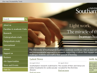 University of Southampton Website