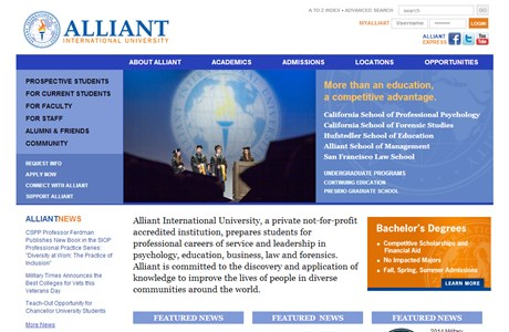 Alliant International University Website