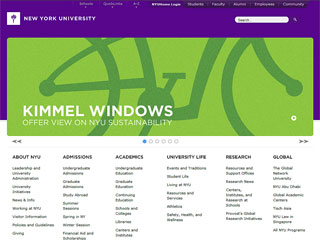 New York University Website