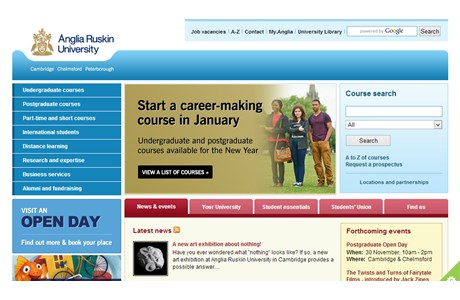 Anglia Ruskin University Website