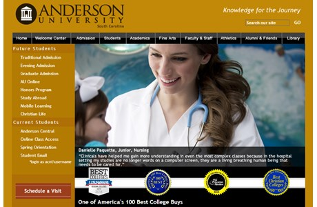 Anderson University Website