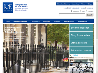 Institute of Education, University of London Website