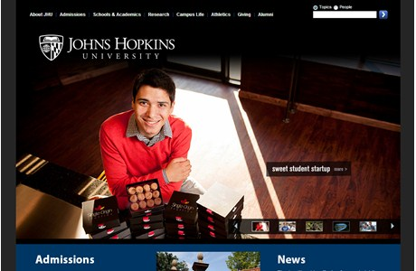 Johns Hopkins University Website
