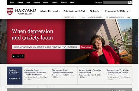 Harvard University Website