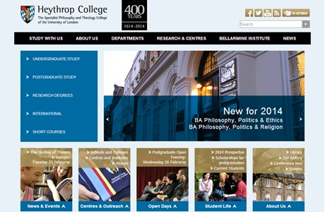 Heythrop College, University of London Website