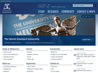 The University of Melbourne Website