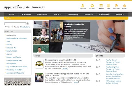 Appalachian State University Website