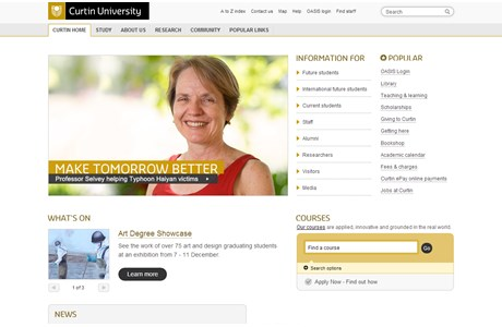 Curtin University Website