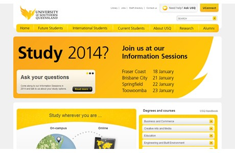University of Southern Queensland Website