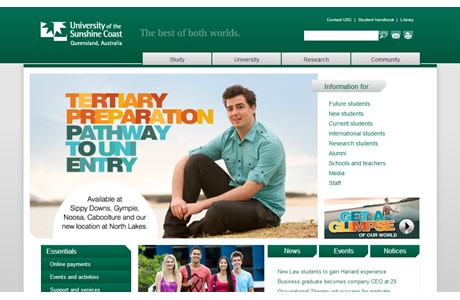 University of the Sunshine Coast Website