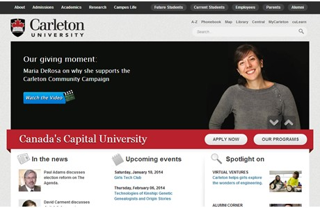 Carleton University Website