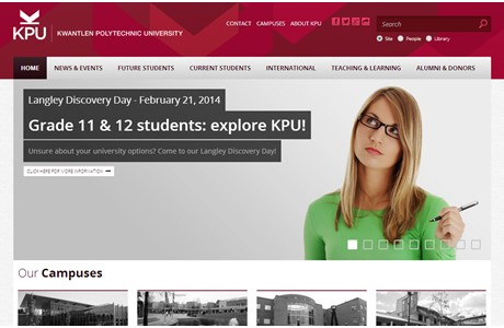 Kwantlen Polytechnic University Website