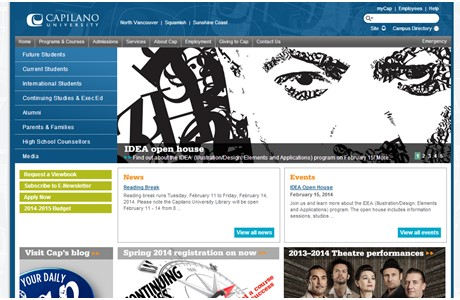 Capilano University Website
