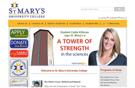 St. Mary's University College Website