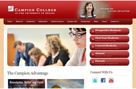 Campion College at the University of Regina Website