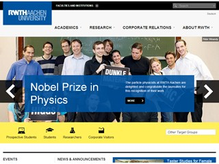 RWTH Aachen University Website
