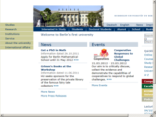 Humboldt University of Berlin Website