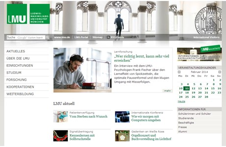 Ludwig Maximilian University of Munich Website