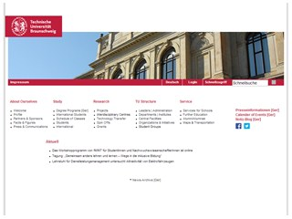 Braunschweig University of Technology Website