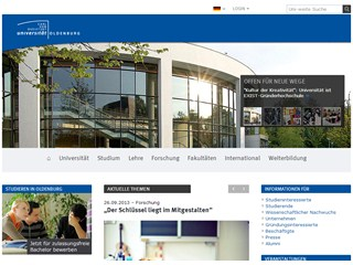 Carl von Ossietzky University of Oldenburg Website