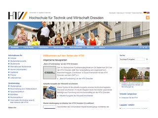 Dresden University of Applied Sciences Website