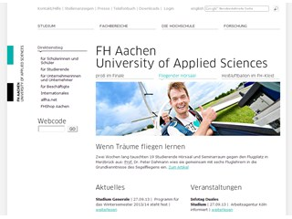 Aachen University of Applied Sciences Website