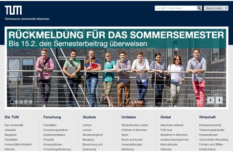 Technical University of Munich Website