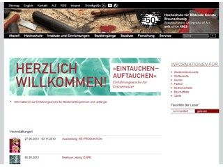 Braunschweig University of Art Website