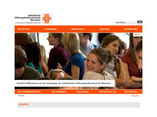 Catholic University of Applied Sciences, Munich Website
