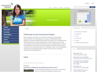 Ansbach University of Applied Sciences Website