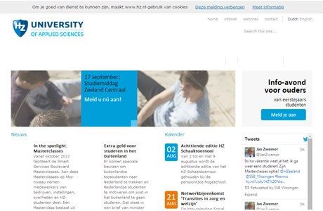 Zeeland University of Professional Education Website