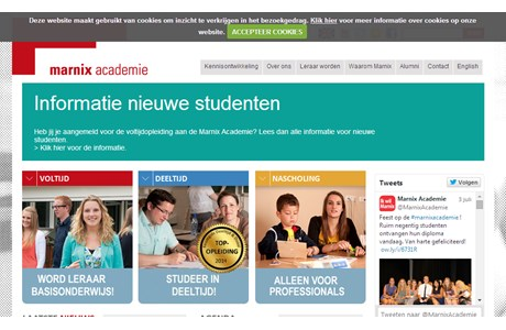 Marnix Academie, University Institute for Teacher Education Website