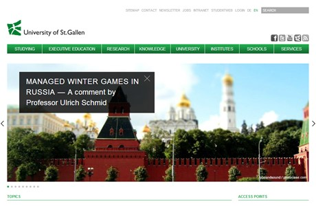 University of St Gallen Website