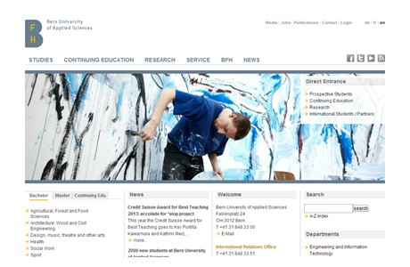 Bern University of Applied Sciences Website