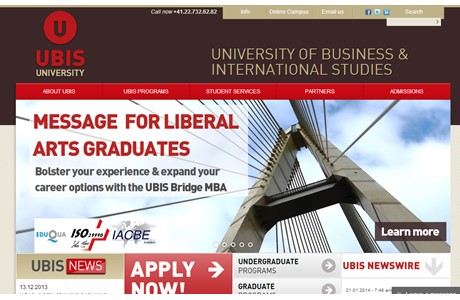 University of Business and International Studies Website