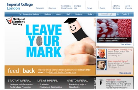 Imperial College London Website