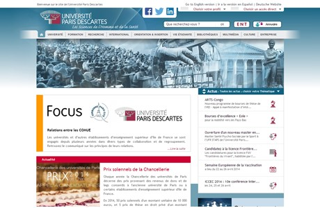 Paris Descartes University-Paris V Website