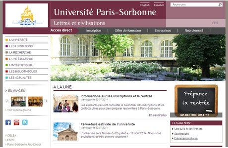 Paris-Sorbonne University - Paris IV Website