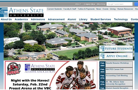 Athens State University Website