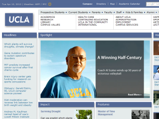 University of California, Los Angeles Website